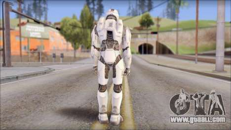 Masterchief White for GTA San Andreas second screenshot