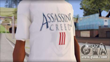 Assassins Creed 3 Fan T-Shirt for GTA San Andreas third screenshot