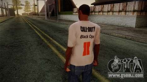 COD Black Ops II White Fan T-Shirt for GTA San Andreas second screenshot