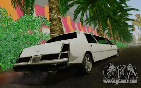 Washington Limousine for GTA San Andreas back left view
