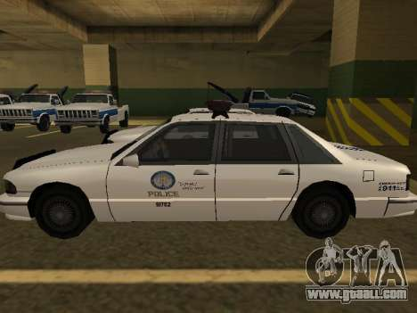 Police Original Cruiser v.4 for GTA San Andreas inner view