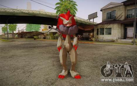 Zoroark from Pokemon for GTA San Andreas