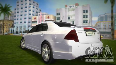 Ford Fusion 2009 for GTA Vice City left view