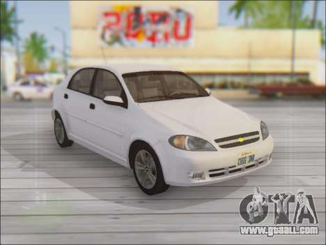Chevrolet Lacetti for GTA San Andreas side view
