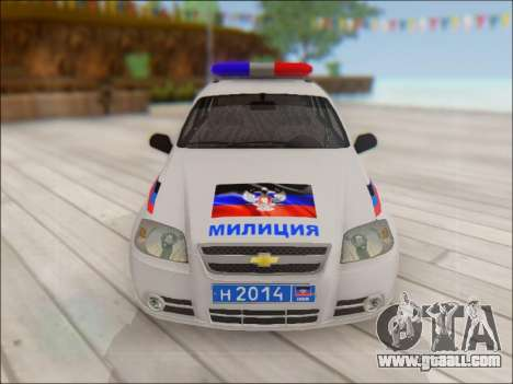 Chevrolet Aveo Police DND for GTA San Andreas side view