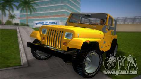 Jeep Wrangler 1986 v4.0 Fury for GTA Vice City