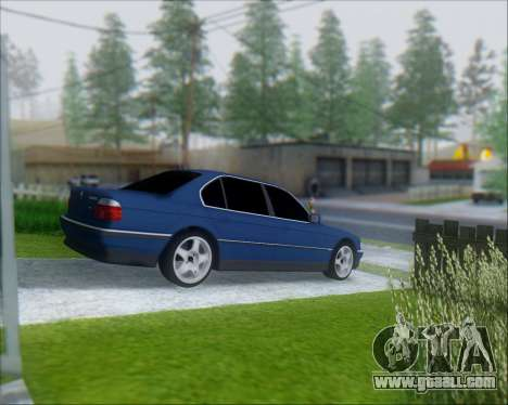 BMW 7 E38 for GTA San Andreas back left view