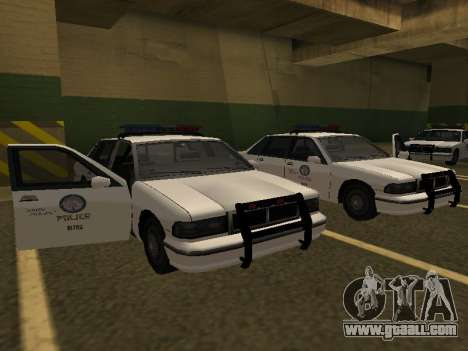 Police Original Cruiser v.4 for GTA San Andreas back left view