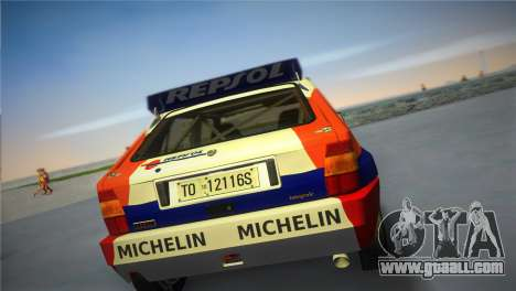 Lancia Delta HF Integrale for GTA Vice City left view