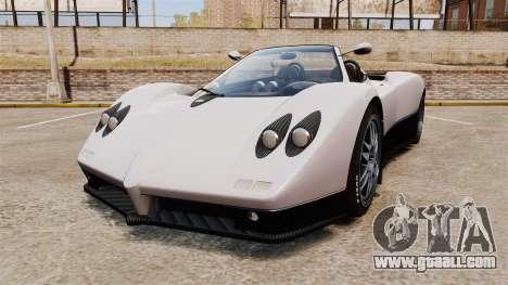 Pagani Zonda C12S Roadster 2001 v1.1 PJ2 for GTA 4