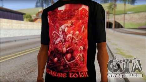 Kreator Shirt for GTA San Andreas third screenshot