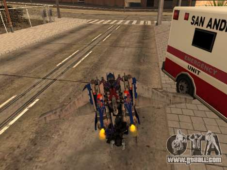 Optimus Jetpack for GTA San Andreas sixth screenshot