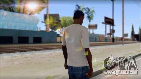 Skull Butterfly T-Shirt for GTA San Andreas second screenshot