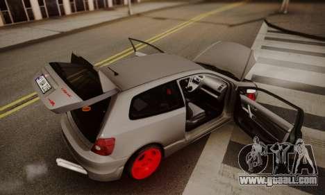 Honda Civic TypeR for GTA San Andreas inner view