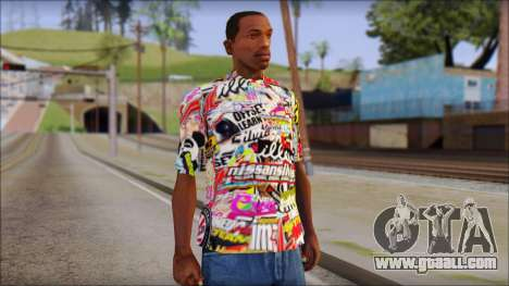 Sticker Bomb T-Shirt for GTA San Andreas