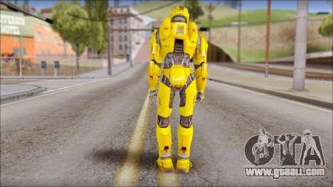 Masterchief Yellow from Halo for GTA San Andreas second screenshot