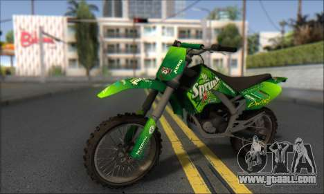 Sanchez From GTA V for GTA San Andreas back left view