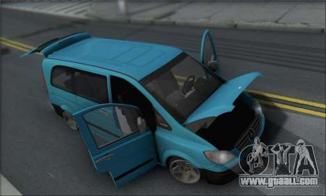 Mercedes-Benz 115 CDI Vito 2007 Stance for GTA San Andreas side view