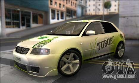 Audi A3 1999 for GTA San Andreas wheels