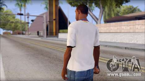 Real Madrid FC Jersey Mod for GTA San Andreas second screenshot