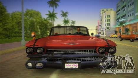 Cadillac Eldorado for GTA Vice City back view