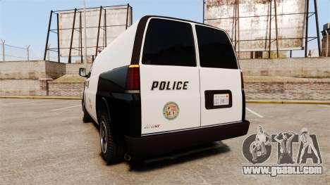 Vapid Speedo Los Santos Police [ELS] for GTA 4 back left view