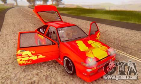 Toyota Corolla AE86 DS for GTA San Andreas side view