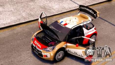 Citroen DS3 WRC for GTA 4 back left view