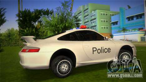 Porsche 911 GT3 Police for GTA Vice City left view
