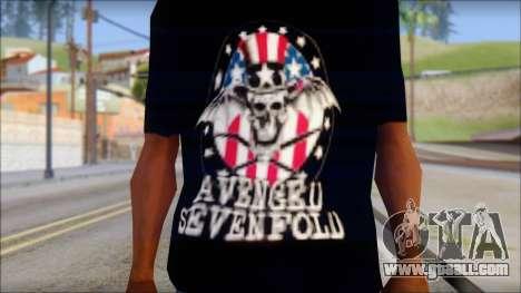 A7X Love It Or Die Fan T-Shirt for GTA San Andreas third screenshot