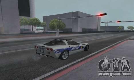Chevrolet Corvette Z06 Police for GTA San Andreas left view