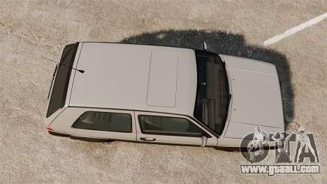 Volkswagen Golf GTI Mk2 for GTA 4 right view