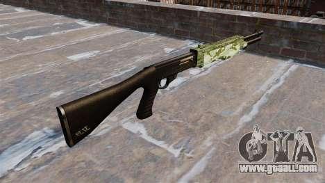 Ружьё Franchi SPAS-12 Green Camo for GTA 4 second screenshot