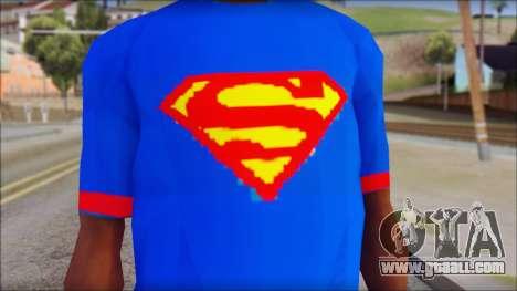 Superman T-Shirt v1 for GTA San Andreas third screenshot