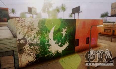 Pakistani Flag Graffiti Wall for GTA San Andreas