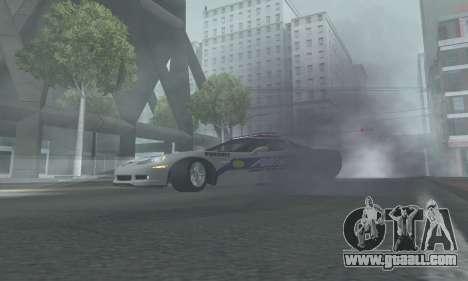 Chevrolet Corvette Z06 Police for GTA San Andreas back left view
