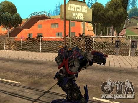 Optimus Sword for GTA San Andreas seventh screenshot
