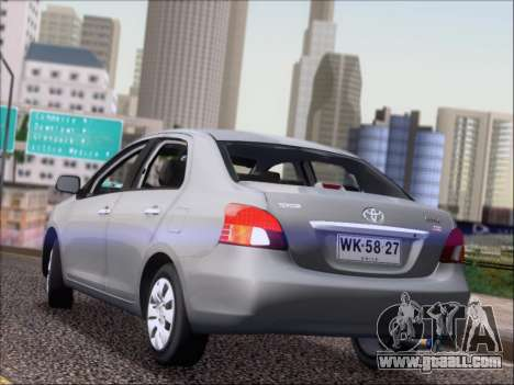 Toyota Yaris 2008 Sedan for GTA San Andreas back left view