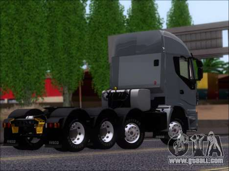 Iveco Stralis HiWay 560 E6 8x4 for GTA San Andreas inner view