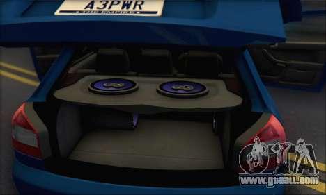 Audi A3 1999 for GTA San Andreas interior