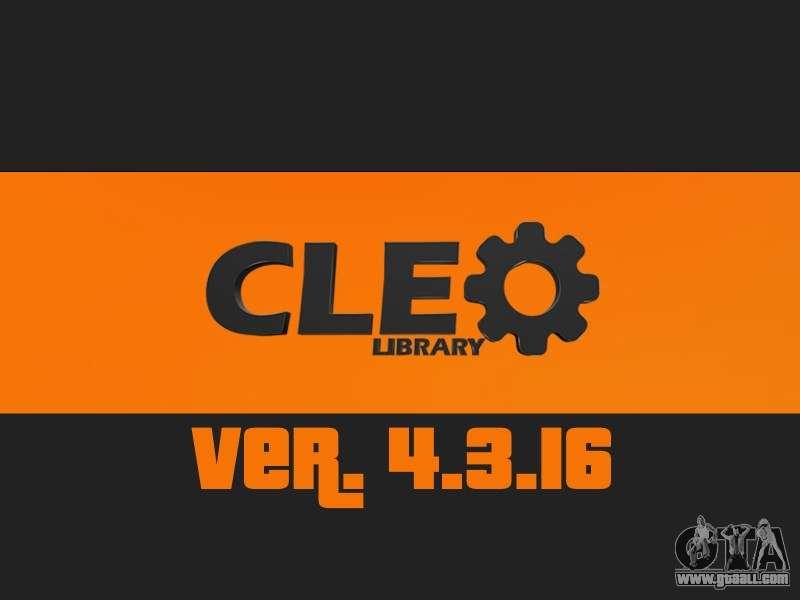 Скачать Cleo 4 для GTA Sa
