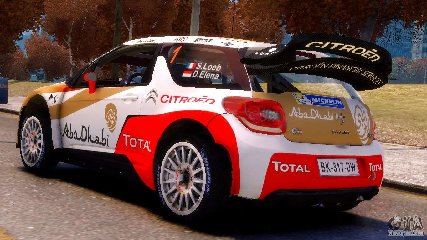 citroen ds3 wrc for gta 4. Black Bedroom Furniture Sets. Home Design Ideas