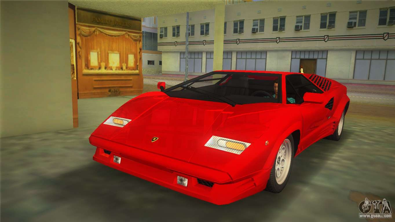 lamborghini countach 1988 25th anniversary for gta vice city. Black Bedroom Furniture Sets. Home Design Ideas