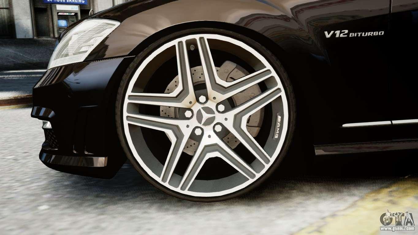 Mercedes benz s65 w221 amg v1 3 for gta 4 for Mercedes benz original wheels