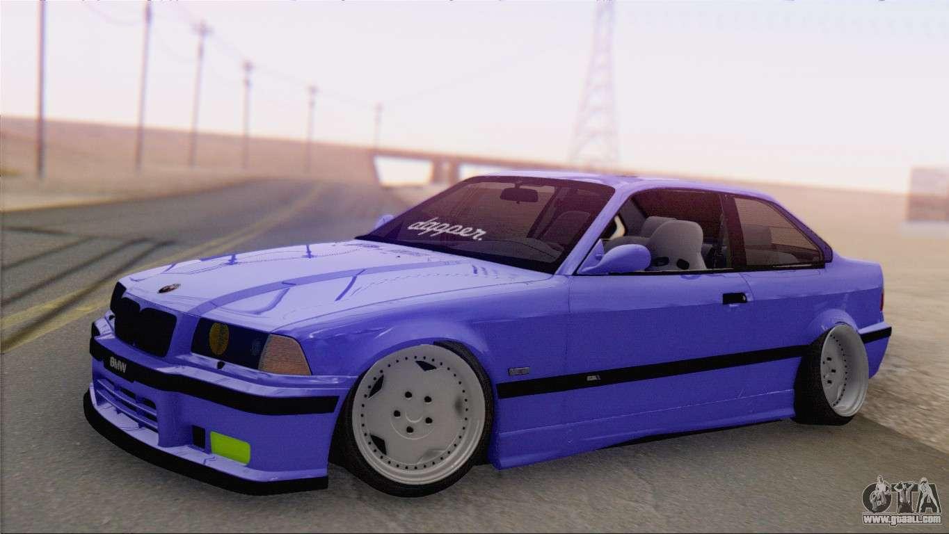 Bmw M3 E36 Coupe Slammed For Gta San Andreas