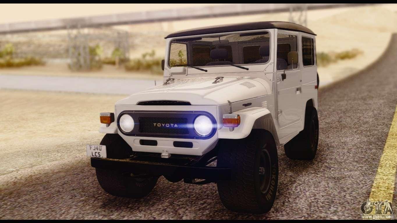Toyota Land Cruiser Fj40 1978 For Gta San Andreas