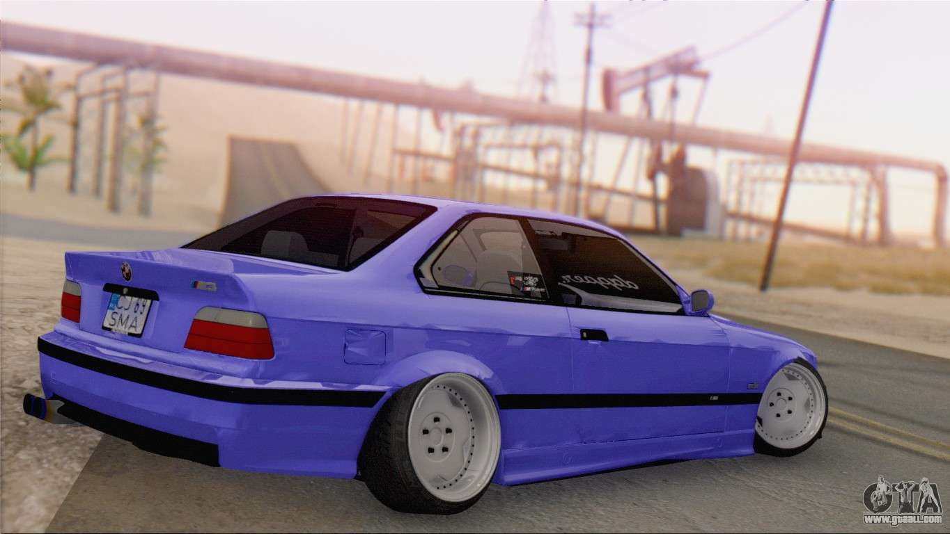bmw m3 e36 coupe slammed for gta san andreas. Black Bedroom Furniture Sets. Home Design Ideas