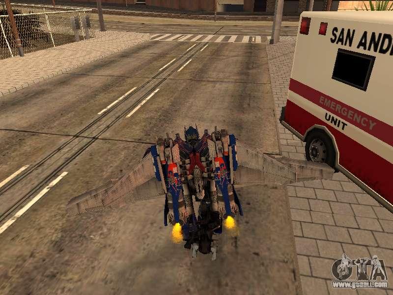 Optimus Jetpack For Gta San Andreas
