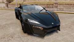 Lykan HyperSport Black for GTA 4