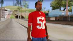 San Francisco 69ers 52 Willis Red T-Shirt for GTA San Andreas